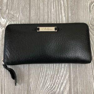 Cole Haan Black Leather Zipper Wallet